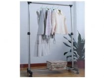 Single-Pole Telescopic Clothes Rack 85x160 cm