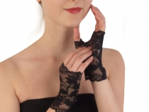 Formal Lace Fingerless Gloves length 14 cm