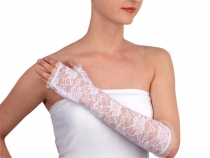 Formal Lace Fingerless Gloves length 34 cm