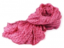Polka Dotted Crease Scarf 100x175 cm