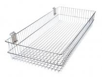 Grid Wall / Slat Wall Hanging Wire Basket 40x90 cm