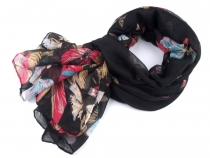 Fashion Scarf with Butterflies 90x185 cm