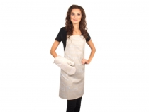 Kitchen Apron and Oven Mitt