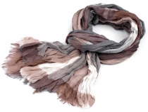 Checkered Printed Crinkle Scarf 90x195 cm