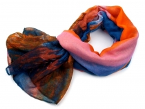 Printed Rainbow color Scarf 95x180 c