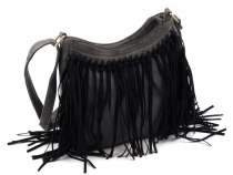 Crossbody Bag 22.5x23 cm with Fringes