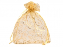 Organza Gift Bag 13.5x17 cm with ornaments