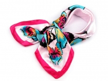 Printed Satin Scarf 58x58 cm Butterflies