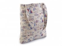 Textile Bag with Sailor Print 31x34 cm