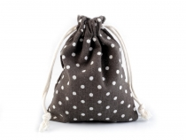 Linen Bag with Polka Dots 10x13 cm