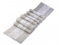 Table Runner / Tablecloth with Lace 30x275 cm