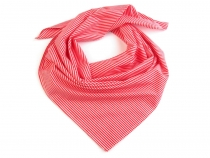 Cotton Scarf with Stripes 65x65 cm