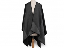 Double-sided Poncho 130x145 cm