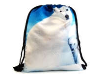 Drawstring Bag Wolf / Polar Bear