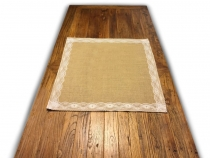 Jute Tablecloth with Lace 70x70 cm