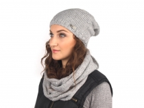 Ladies Winter Knit Hat with Sequins Capu
