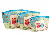 Cosmetic Bag / Case Owl 3 pcs