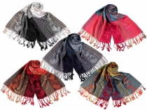 Scarf of Pashmina Type with Fringe 70x175 cm