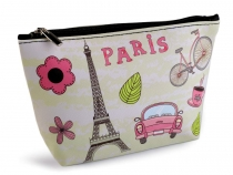 Cosmetic Bag / Case Paris 14x23 cm