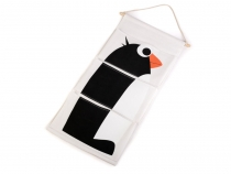 3 Pocket Hanging Organizer giraffe, penguin, flamingo, crocodile