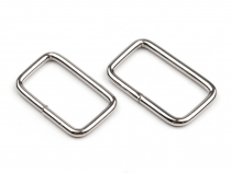 Metal Square Webbing Ring 13x25 mm