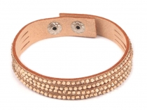 Wrap Bracelet with Rhinestones
