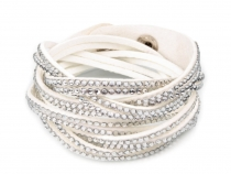 Braided Wrap Bracelet with Rhinestones
