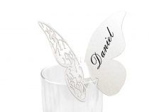 Butterfly Place Name Card For Glass