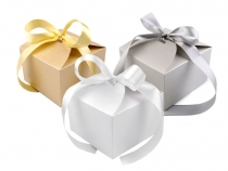 Paper Favor Box with Ribbon 8.5x12.5x12.5 cm
