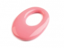 Plastic Oval Charm 23x33 mm