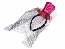 Carnival Headband - Hat with Veil