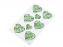 Rhinestone Heart Stickers
