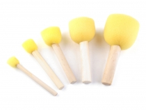 Foam Stencil Brush - set of 5 pcs