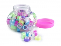 Single Colour Self-adhesive Tapes mix width 8 mm in Jar