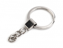 Key Ring with Chain Ø30 mm