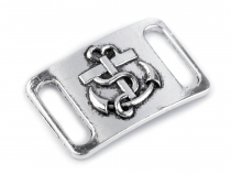 Metal Decorative Buckle 20x30 mm Anchor
