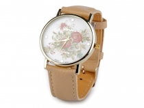 Ladies Watch 3.8x24 cm with Flowers