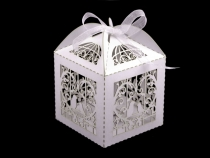 Laser Cut Gift Box 6x6 cm with Ribbon