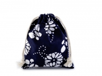 Cotton String Bag 11x14 cm with Flowers