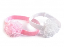 Girls Stretch Headband with Flower