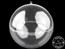 Clear Acrylic Fillable Ball Ornament Ø200 mm