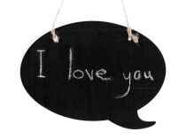 Hanging Chalkboard Door Sign - Bubble