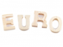 Wooden Decorative Letters and Punctuation Marks 3D