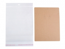 Jewelry Display Hanging Cards W/Self Adhesive Bags 150x200 mm
