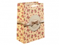 Gift Bag with Flowers 25x33 cm
