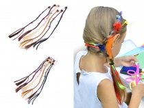 Kids Faux Hair Clips with Beads