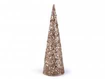 Christmas Cone with Sequins and Glitter