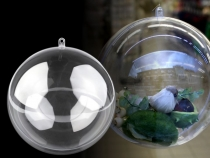 Clear Plastic Fillable Ball Ornament Ø12 cm