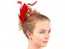 Feather Fascinator on Comb 25 cm