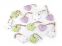 Metal Hang Heart, Butterfly and Flower Decor